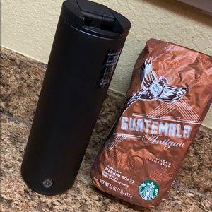 Starbucks Stainless Steel Matte Black Travel Mug